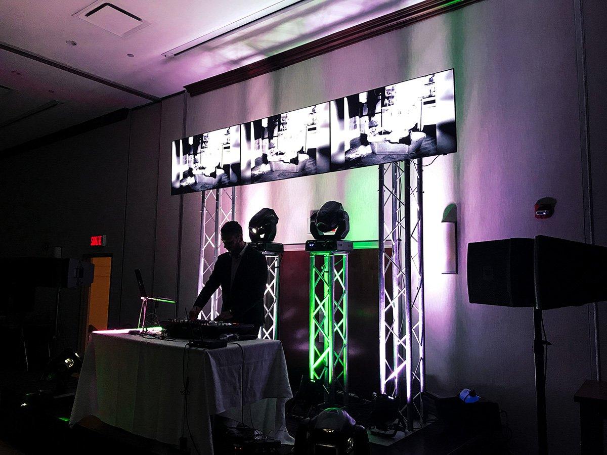 Écrans de vidéo dj pour party de bureau des fêtes u montréal