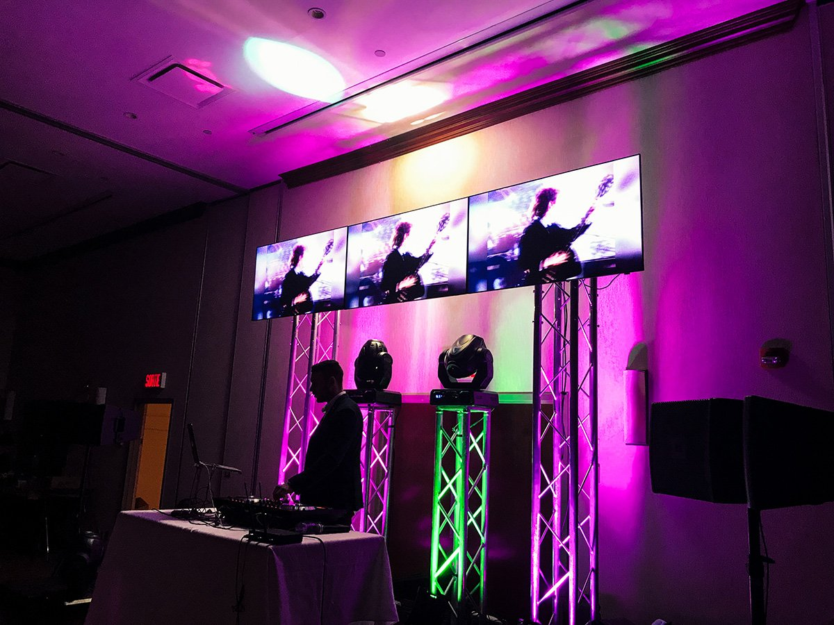 Video Dj Screens For Office Party Montreal Tech